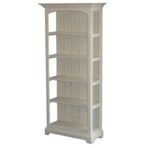 Nantucket Bookcase, furniture, pine, storage ideas, storage, solid wood, made in Canada, Canadian made, shelf, bookshelf, bookcase, rustic, rustic look, shelves, paint, library, home library, display