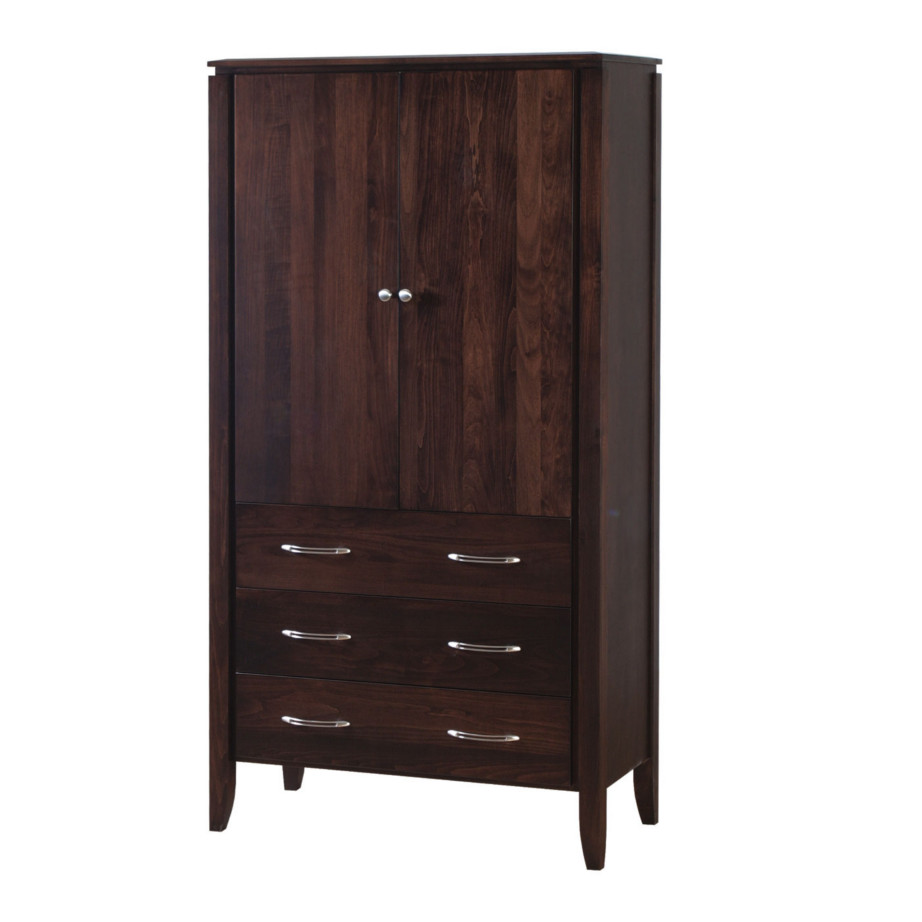 Newport Armoire, bedroom, bedroom furniture, occasional, occasional furniture, solid wood, solid oak, solid maple, custom, custom furniture, storage, storage ideas, armoire, made in Canada, Canadian made