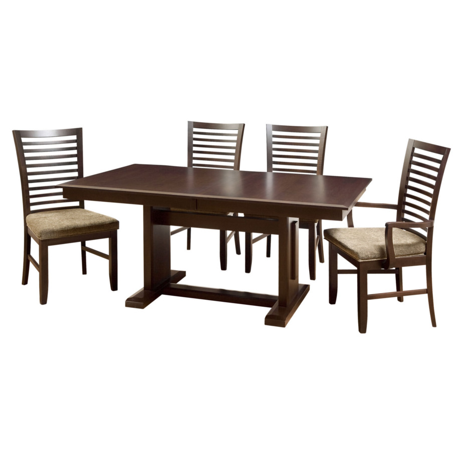 newport trestle table, Dining room, dining room furniture, solid wood, solid oak, solid maple, custom, custom furniture, dining table, dining chair, made in Canada, Canadian made
