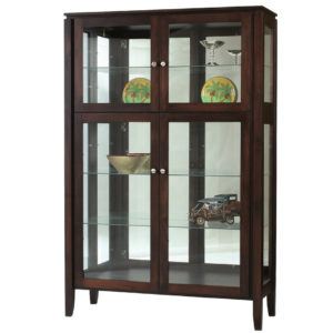 Newport Curio Cabinet, Dining room, dining room furniture, occasional, occasional furniture, solid wood, solid oak, solid maple, custom, custom furniture, storage, storage ideas, cabinet, display cabinet, curio