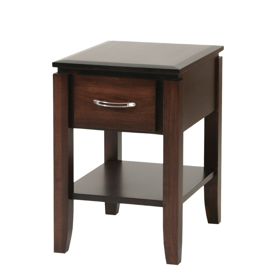 Newport End Table, living room, living room furniture, occasional, occasional furniture, solid wood, solid oak, solid maple, custom, custom furniture, storage, storage ideas, end table