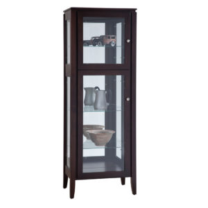 Newport Single Door Curio Cabinet, Dining room, dining room furniture, occasional, occasional furniture, solid wood, solid oak, solid maple, custom, custom furniture, storage, storage ideas, cabinet, display cabinet, curio