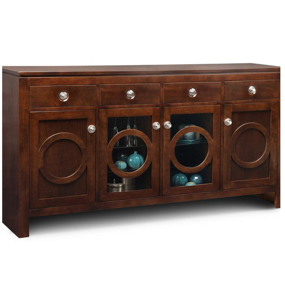 Orlando display Sideboard, display sideboard, Orlando ,Dining Room, best home furnishings, Cabinets, Storage Cabinets ,hand crafted furnitutre, cherry, contemporary, custom cabinet, distressed, handstone, made in canada, made to order, maple, modern, oak, solid wood, , customizable, craftsman furniture, glass door display options, display furniture,