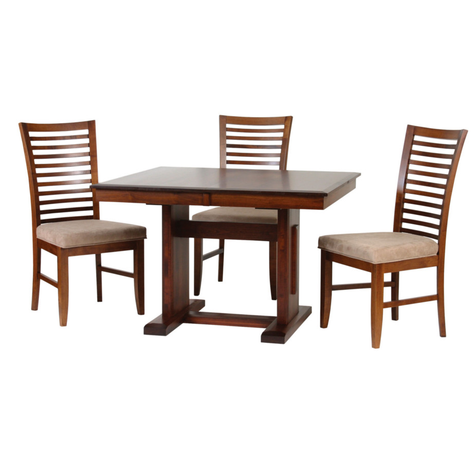 poco newport trestle table, Dining room, dining room furniture, solid wood, solid oak, solid maple, custom, custom furniture, dining table, dining chair, made in Canada, Canadian made