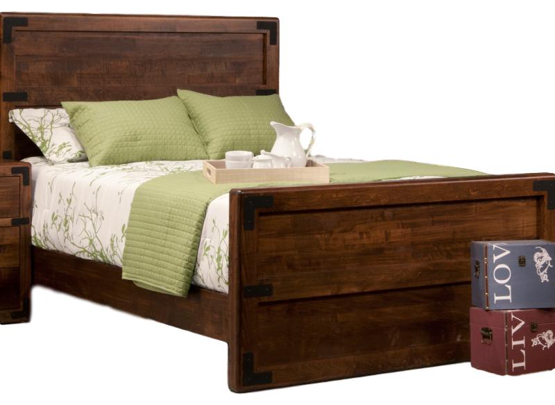 saratoga bed, bedroom, bedroom furniture, custom, custom furniture, bed, solid wood, maple, rustic maple, rustic wood, amish design, oak, cherry, saratoga bed