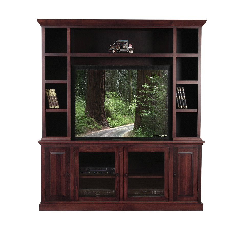 Shaker 73 wall unit, wall unit, wall unit with storage TV unit, solid wood , made in canada, choose your wood, solid wood furniture, display wall unit