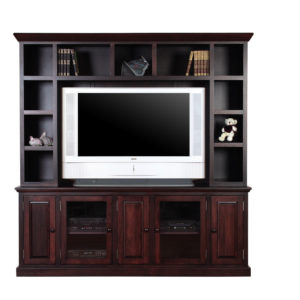 Shaker 83 wall unit, wall unit, wall unit with storage TV unit, solid wood , made in canada, choose your wood, solid wood furniture, display wall unit