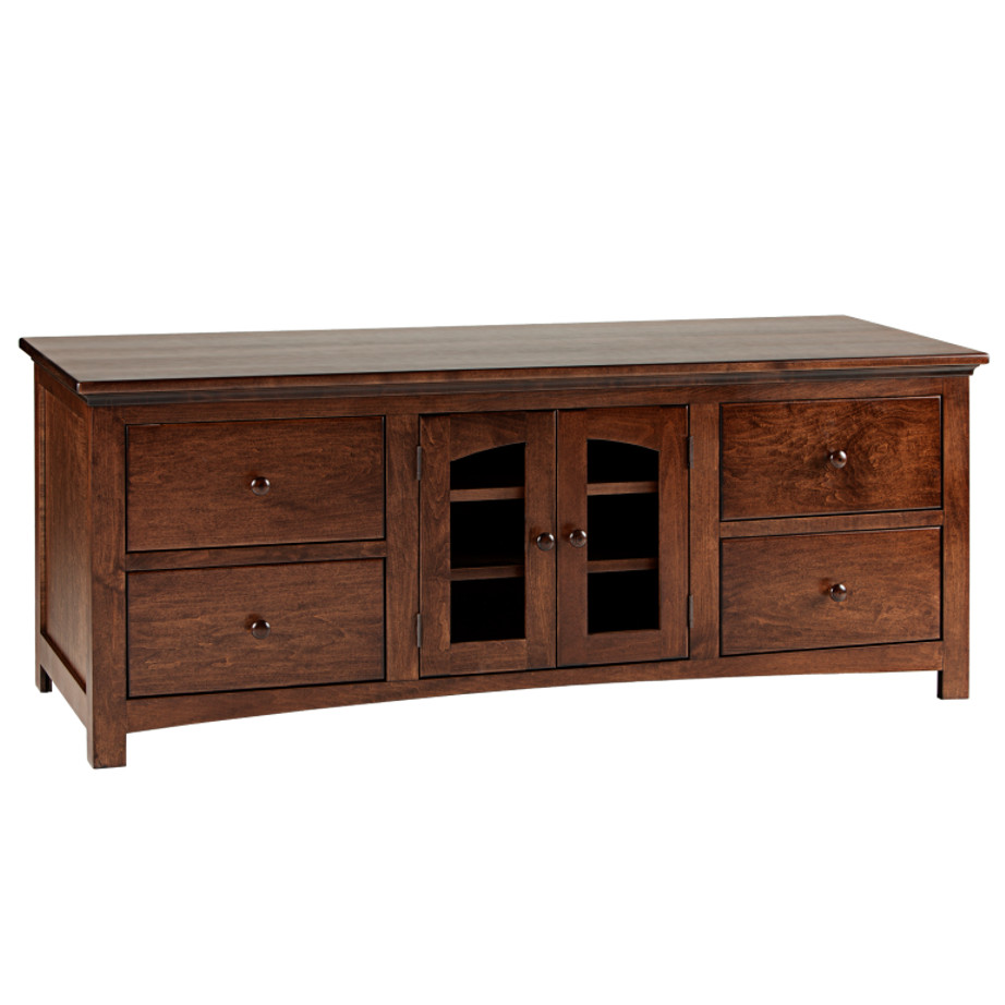 Shaker 60 Arched Door TV console, Shaker Tapered leg console , small tv console, TV unit small, small furniture, made in Canada, solid wood furniture