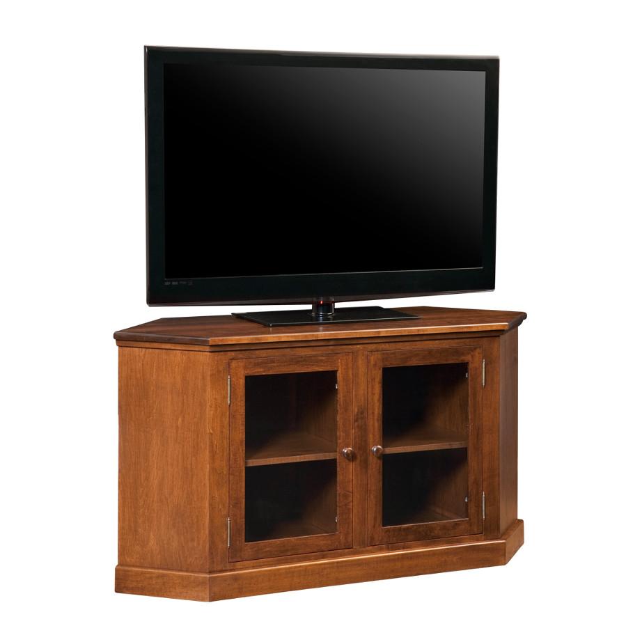 Entertainment, TV Consoles, contemporary, custom cabinet, HDTV, made in canada, maple, modern, oak, rustic, solid wood, tv, other Sizes Available, Glass, Simple, Living Room, Studio TV Console, storage ideas, custom, Shaker corner Tv console