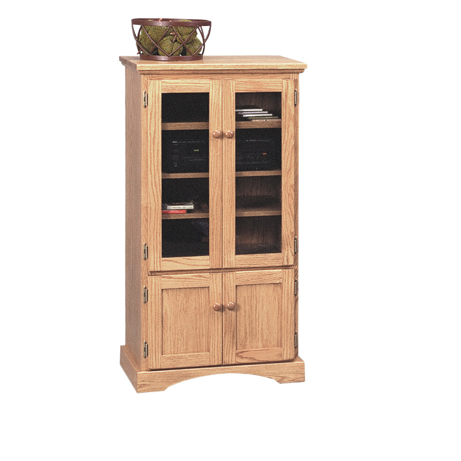 Shaker media stand, media stand, Traditional media stand, media stand with storage, media stand with glass door
