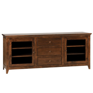 Shaker 70 TV console, Shaker Tapered leg console, Shaker TV console, small tv console, TV unit small, small furniture, made in Canada, solid wood furniture
