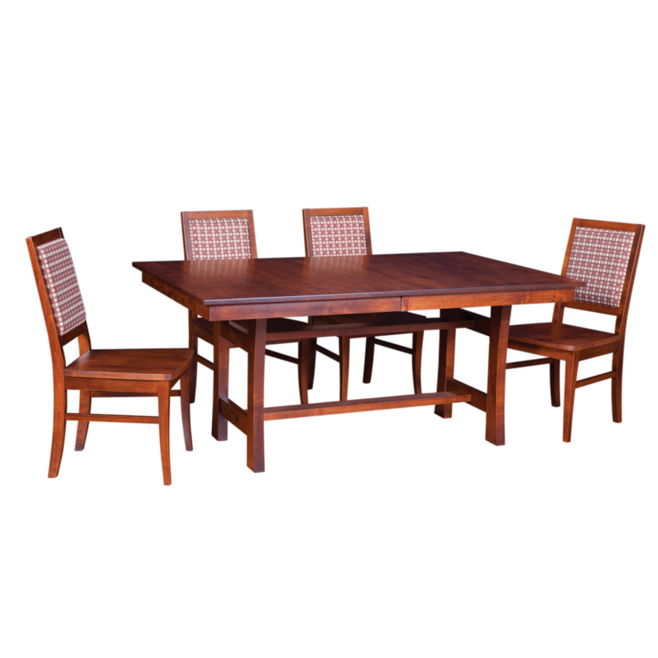 soho trestle table, Dining room, dining room furniture, solid wood, solid oak, solid maple, custom, custom furniture, dining table, dining chair, made in Canada, Canadian made