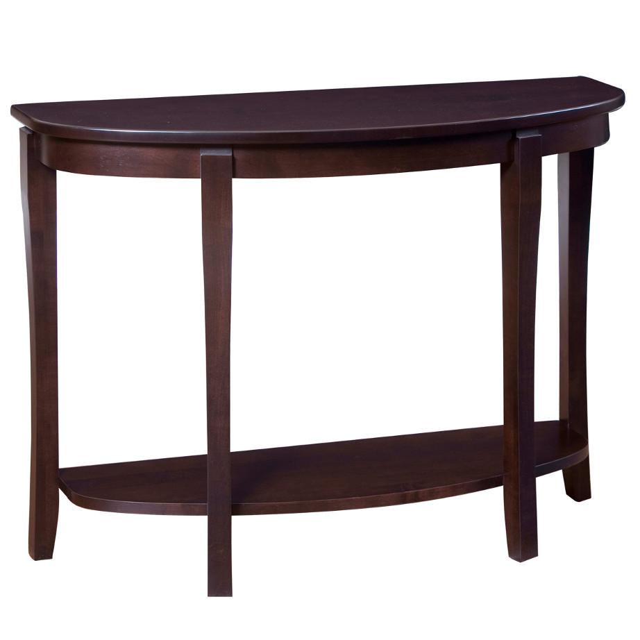 Soho Half Moon Sofa Table, living room, living room furniture, occasional, occasional furniture, sofa table, solid wood, solid oak, solid maple, custom, custom furniture, storage, storage ideas