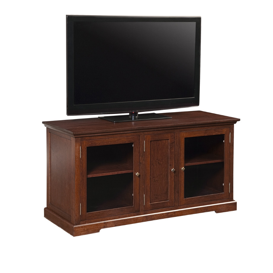 stanford 60 TV Console, Entertainment, TV Consoles, contemporary, custom cabinet, HDTV, made in canada, maple, modern, oak, rustic, solid wood, tv, other Sizes Available, Glass, Simple, Living Room, Studio TV Console, storage ideas, custom, Stanford 60TV console A