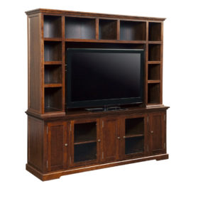 Stanford 83 wall unit, wall unit, wall unit with storage TV unit, solid wood , made in canada, choose your wood, solid wood furniture, display wall unit