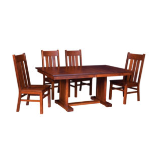 stanford trestle table, Dining room, dining room furniture, solid wood, solid oak, solid maple, custom, custom furniture, dining table, dining chair, made in Canada, Canadian made