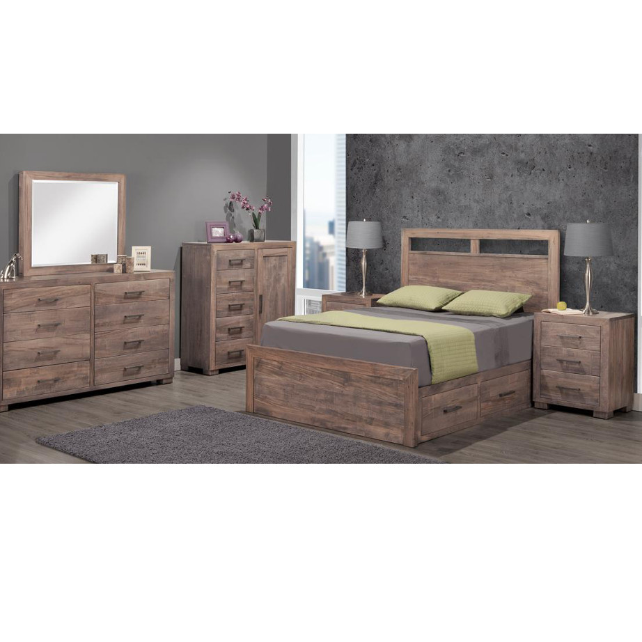 Steel City Bedroom, Steel City, Bedroom, handstone, modern, rustic, straight lines, blocky, unique, modern, amish style furniture, contemporary, handmade, rustic, distressed, simple, customizable, Solid Rustic Maple, bedroom ideas