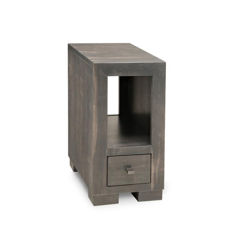 Living Room, Occasional, End Table, Accents, Accent Furniture, made in canada, maple, oak, rustic, side table, solid wood, living room ideas, simple, unique, custom, custom furniture, steel city