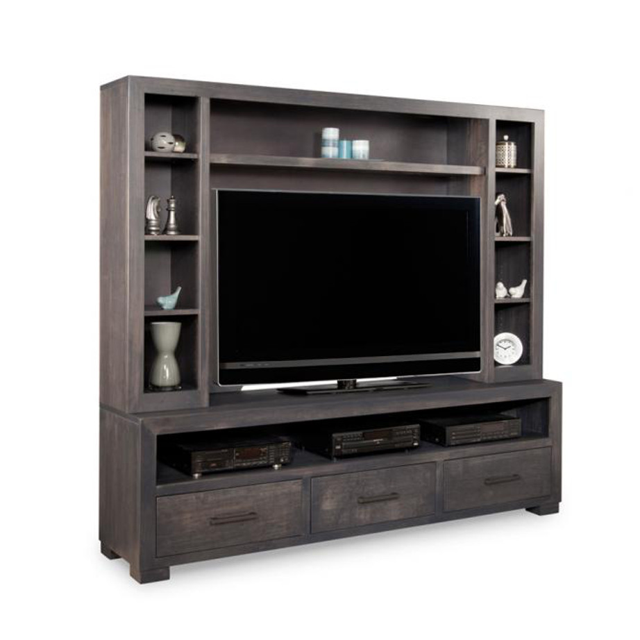 Steel city wall unit, Entertainment, TV Consoles, contemporary, custom cabinet, HDTV, made in canada, maple, modern, oak, rustic, solid wood, tv, other Sizes Available, Glass, Simple, Living Room, Studio TV Console, storage ideas, custom, wall unit, steel city