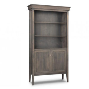 stockholm bookcase with doors, Home Office, shelf, cherry, computer, distressed, made in canada, maple, oak, rustic, solid wood, workstation, office ideas, classic, storage ideas, handstone, custom, custom furniture, bookcase, bookshelf, stockholm