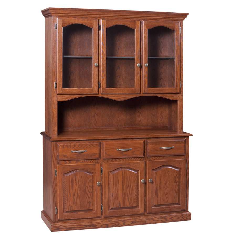 Traditional 3 Door Buffet and Hutch, Dining room, dining room furniture, occasional, occasional furniture, solid wood, solid oak, solid maple, custom, custom furniture, storage, storage ideas, dining cabinet, sideboard, hutch