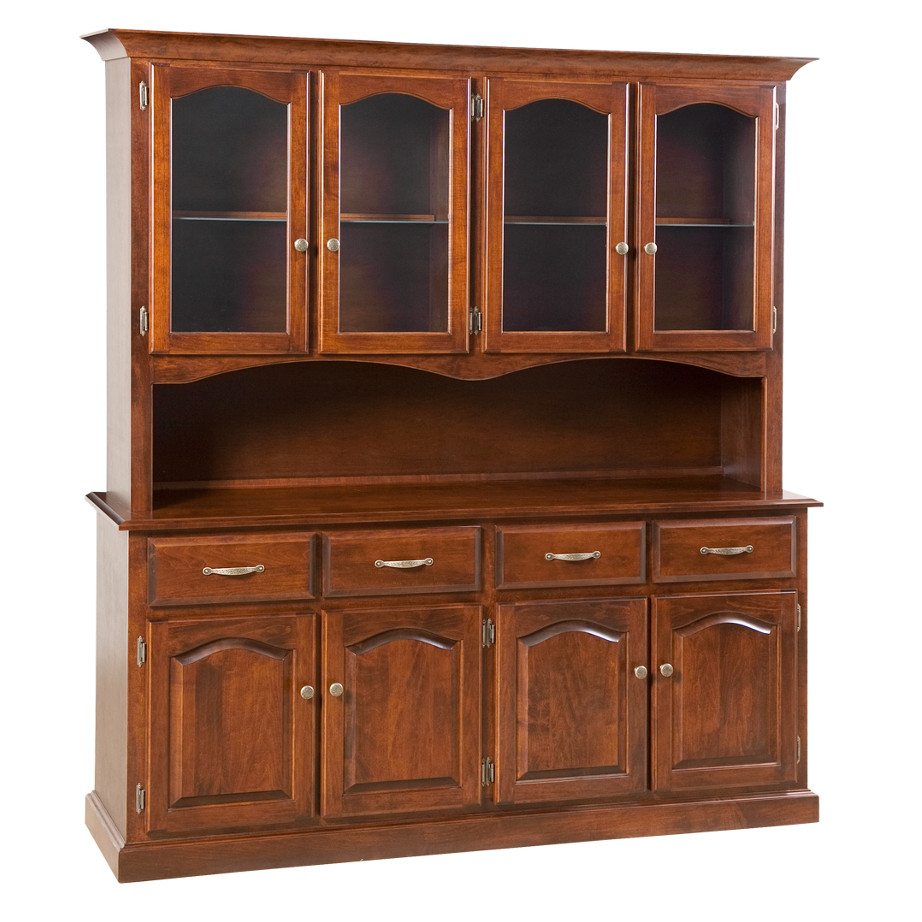 Traditional 4 Door Buffet and Hutch, Dining room, dining room furniture, occasional, occasional furniture, solid wood, solid oak, solid maple, custom, custom furniture, storage, storage ideas, dining cabinet, sideboard, hutch