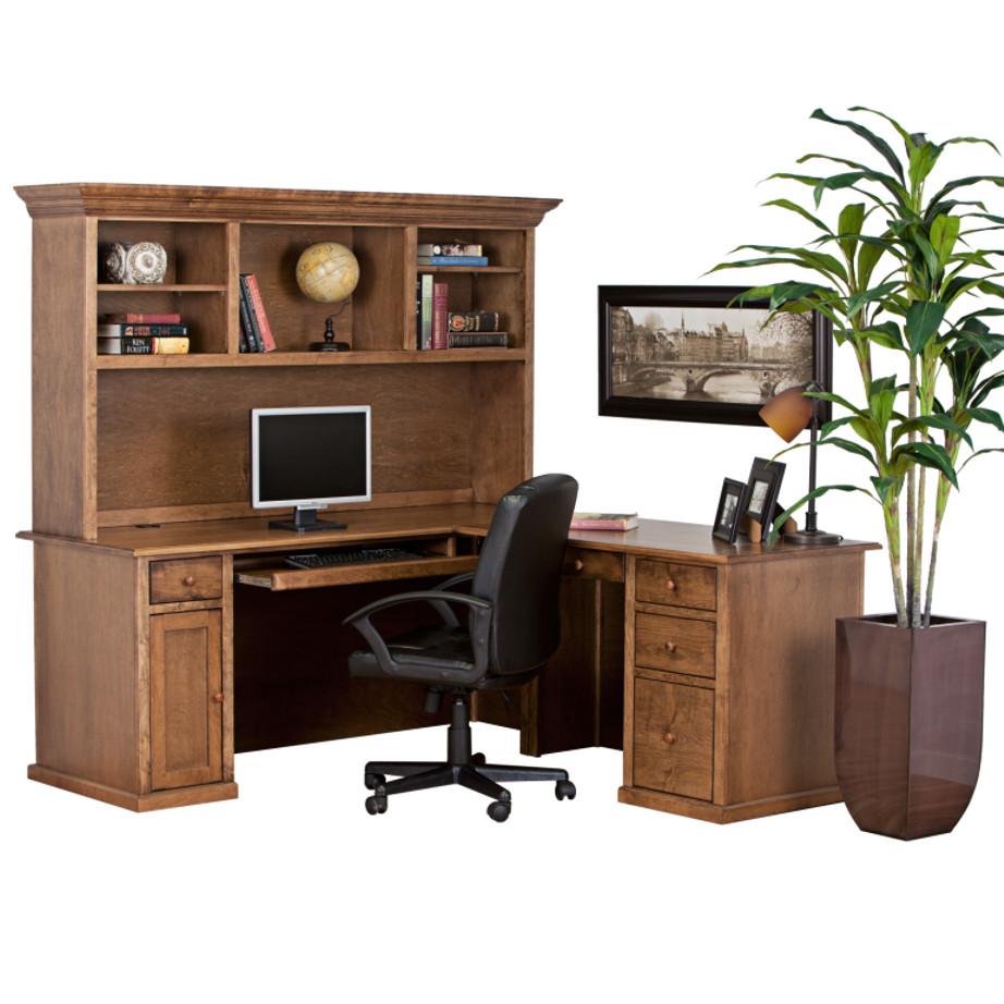 Traditional Workstation, workstation, Work desk , Tall work desk, work desk with storage, wooden furniture, made in canada, workstation