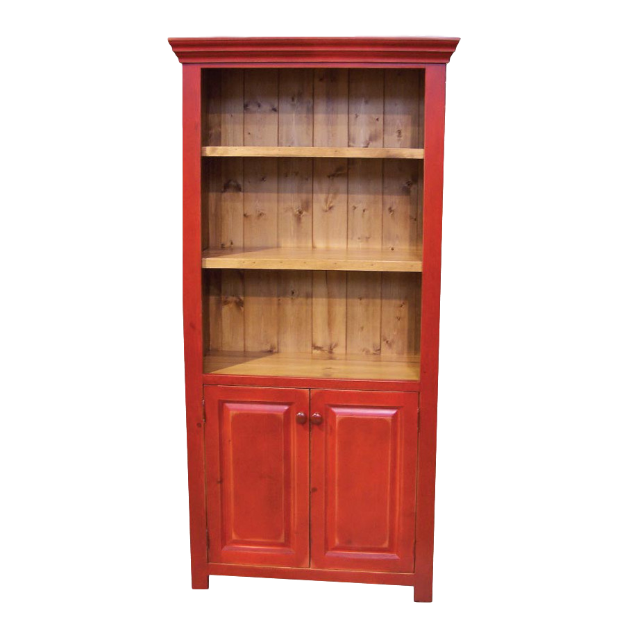 Home Office, Bookcases, colour, contemporary, country, custom table, distressed, made in canada, modern, painted, shelving, solid wood, white, Optional Doors, door edge details, True North, Several Sizes, unique, simple, office ideas, storage ideas, True North Bookcase