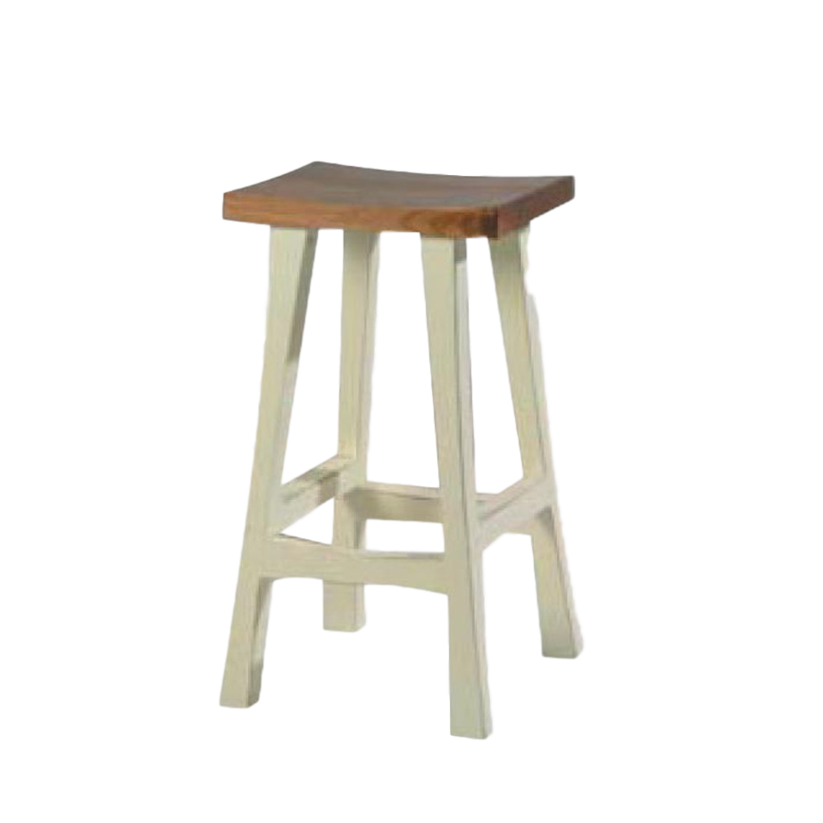 Dining Room, Bar Stools, bar, colour, contemporary, counter, country, distressed, island, kitchen, made in canada, modern, painted, solid wood, white, Simple, rustic, unique, True North Saddle Stool, True North