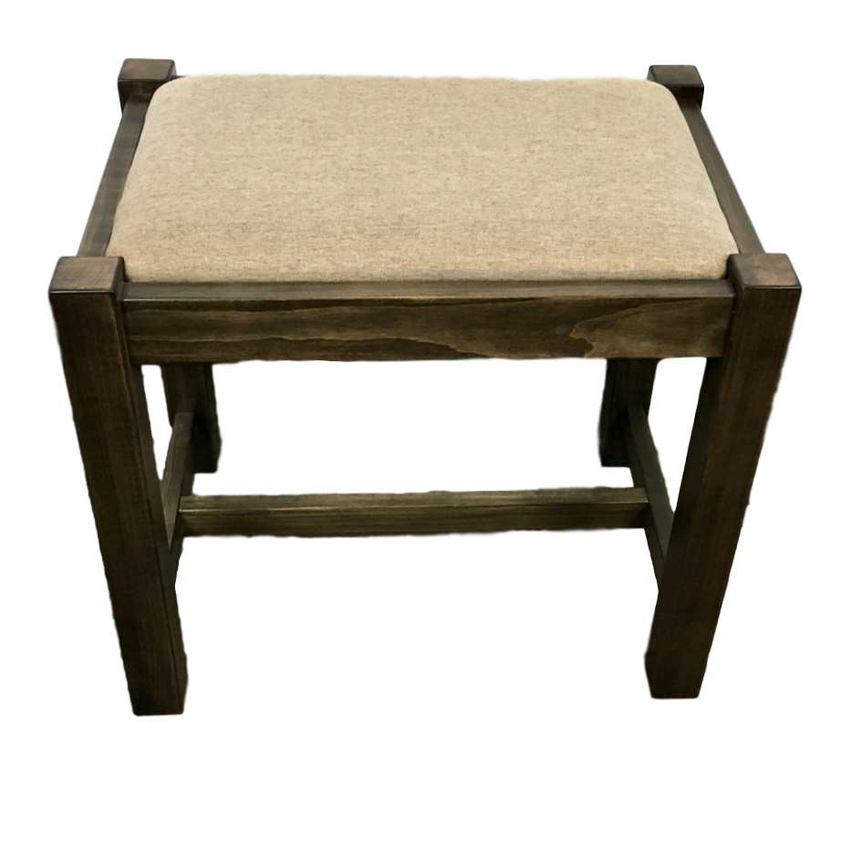 Accents, Entry Benches, entryway, fabric, hallway, made in canada, maple, oak, rustic, seating, solid wood, storage, hallway ideas, living room ideas, simple, rustic, upholstered, wood seat, oakridge, Vanity Bench