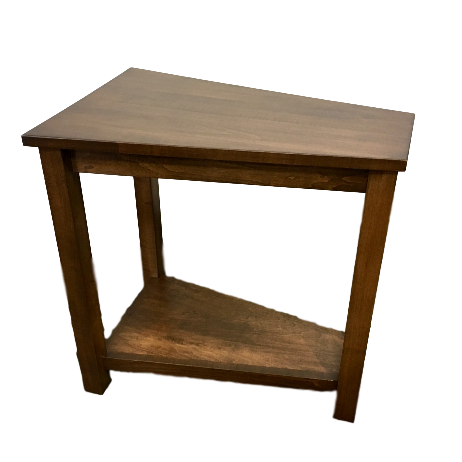Living Room, Occasional, End Table, Accents, Accent Furniture, chairside table, made in canada, maple, oak, rustic, side table, solid wood, living room ideas, simple, unique, Wedge Table, oakridge, Wedge Table - Side View