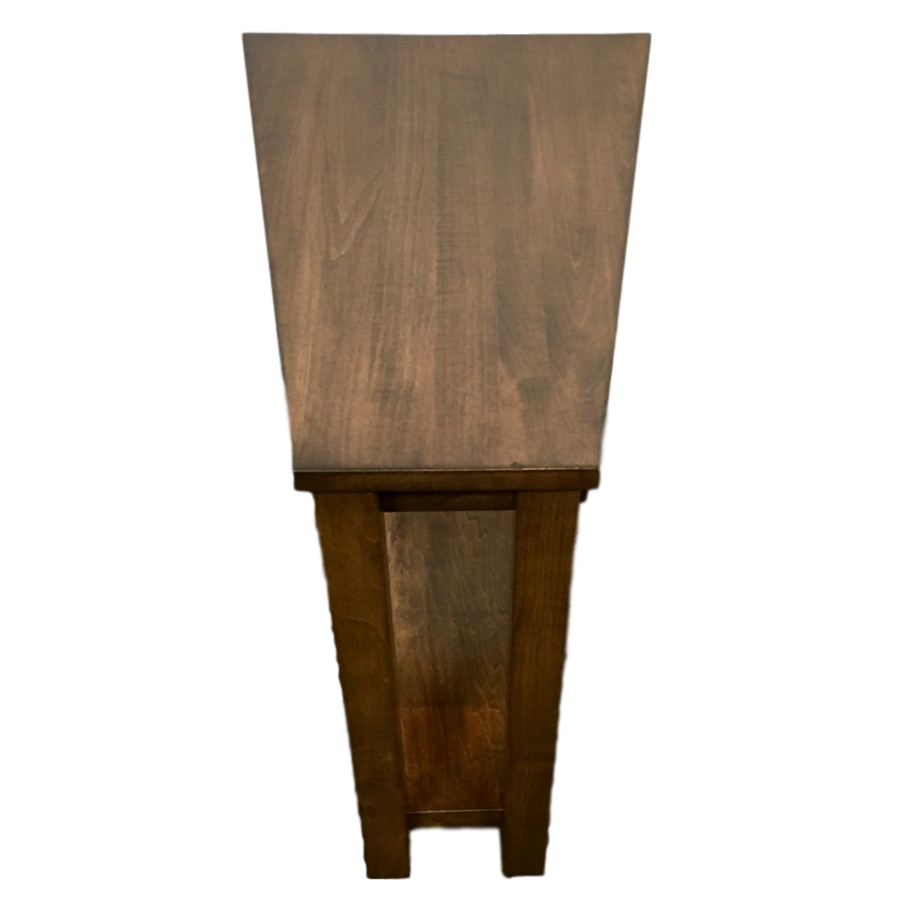 Living Room, Occasional, End Table, Accents, Accent Furniture, chairside table, made in canada, maple, oak, rustic, side table, solid wood, living room ideas, simple, unique, Wedge Table, oakridge,