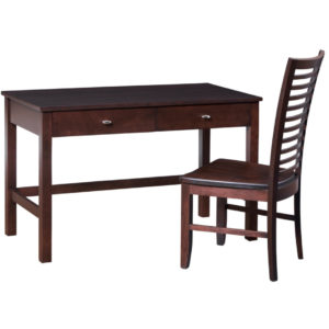 Yaletown writing desk ,writing desk, woodcen desk, solid wood writing desk, writing desk with drawers.