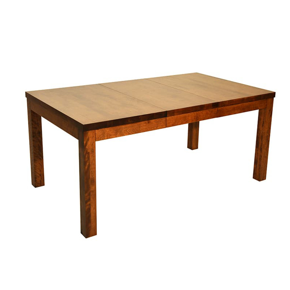 """Dining Room, Leg Tables, birch, contemporary, made in canada, mid century, modern, solid wood, walnut, Modern, unique, several sizes, dining room ideas, VerBois, simple, raw, Austin Table, simple, Wood Top, solid 4"""" x 4"""" legs"""