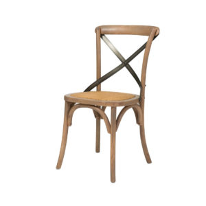 Cross Back Dining Chair, Sundried, dining chair, solid wood, urban, rustic, modern, industrial, rattan