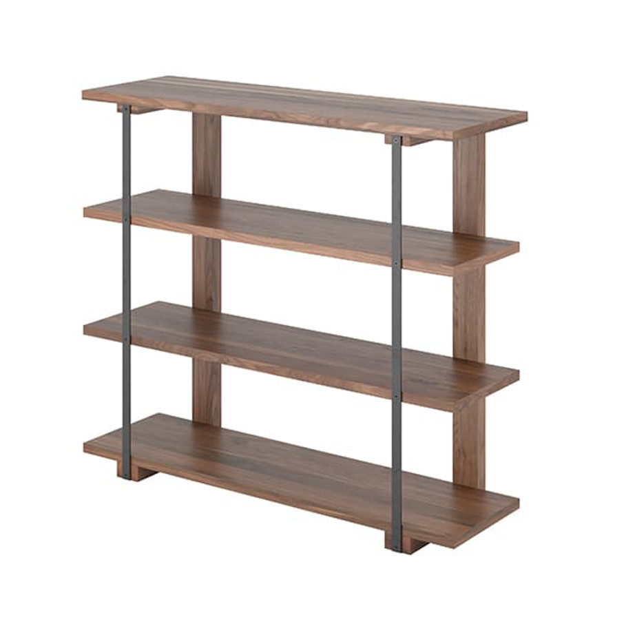 Diaz bookcase, shelf, Home Office, Bookcases, Accents, Accent Furniture, birch, contemporary, display, made in canada, mid-century, modern, shelf, shelving, solid wood, walnut, VerBois, living room furniture ideas, custom made, solid wood furniture