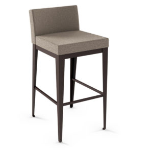 Dining Room, Bar Stools, Ethan Upholstered Stool, amisco, bar, contemporary, counter, custom stool, customizable, fabric, island, made in canada, metal, rustic wood, distressed, iron, steel, birch, modern, urban, custom made, pub stool, counter stool, bar stool, counter height, bar height,