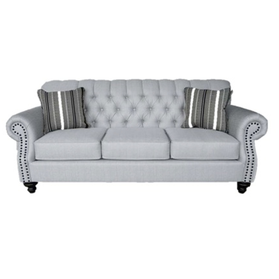 elite sofa, love seat, custom sofa, made in canada, custom sofa, fabric, modern, traditional, george sofa, tufted back, deep tufted, rolled arm, an head, traditional, elegant