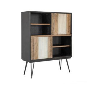 Havana Reclaimed Cabinet, rustic, solid wood, modern, urban, industrial, mid century modern, black, storage cabinet