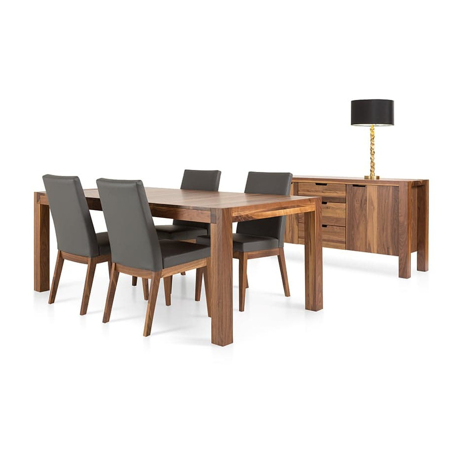Dining Room, Cabinets, Storage Cabinets, birch, contemporary, glass, made in canada, mid century, modern, solid wood, verbois, walnut, dining room ideas, glass top, unique, modern, storage ideas, simple, unique, Heel Buffet, Heel Buffet Room