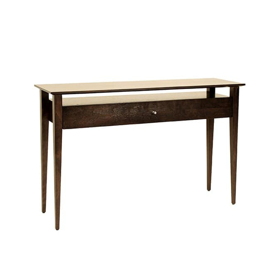 java sofa table, Living Room, Occasional, Sofa Tables, Accents, Accent Furniture, birch, console, contemporary, custom table, entry way, glass, hall table, made in canada, mid century, modern, solid wood, walnut, living room ideas, glass, console, VerBois, Lyon Sofa Table, unique, simple, two sizes