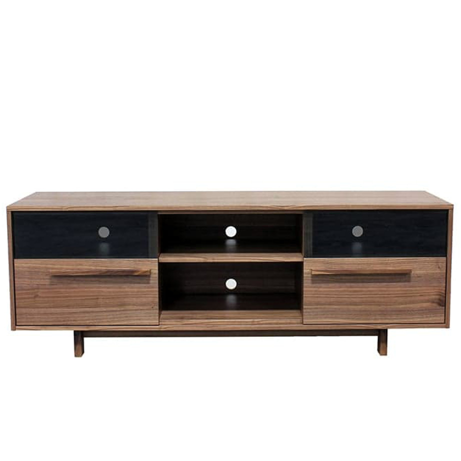 Roxy TV Console, Entertainment, TV Consoles, birch, console, contemporary, HDTV, made in canada, media stand, mid-century, modern, solid wood, walnut, living room furniture ideas, VerBois, solid wood furniture, custom made, unique