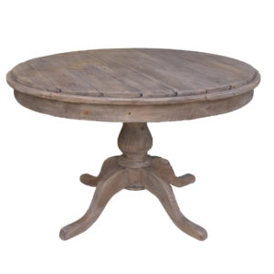Sundried Pedestal Table, rustic, solid wood, dining table, industrial, rustic, modern, urban