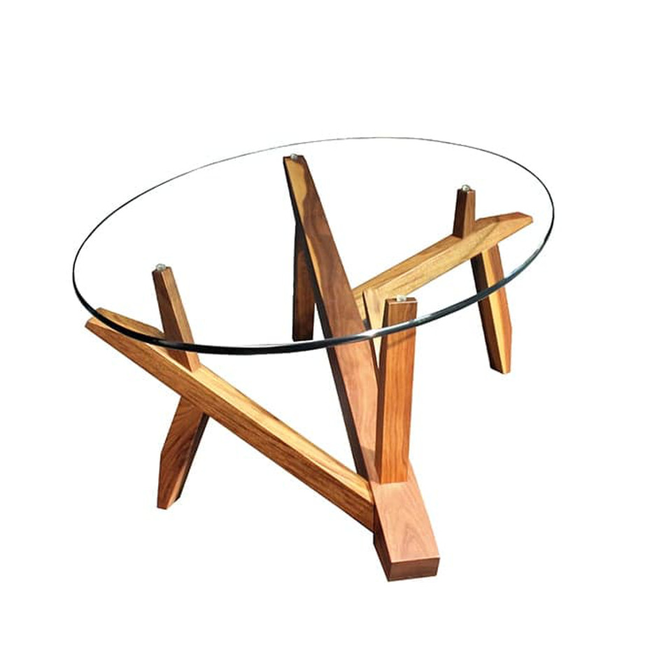 Occasional, End Table, Accents, Accent Furniture, birch, contemporary, glass, made in canada, mid century, modern, solid wood, walnut, living room ideas, unique, modern, verbois, custom stain, simple, Living Room, coffee table, rectangle, oval, Tree Coffee Table, Tree Coffee Table Oval