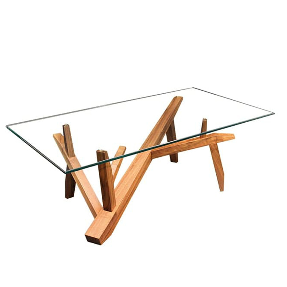 Occasional, End Table, Accents, Accent Furniture, birch, contemporary, glass, made in canada, mid century, modern, solid wood, walnut, living room ideas, unique, modern, verbois, custom stain, simple, Living Room, coffee table, rectangle, oval, Tree Coffee Table