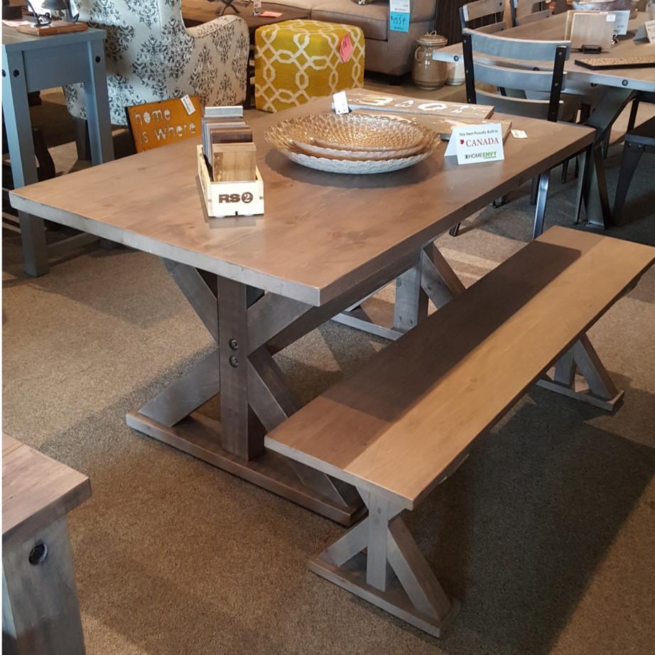 rustic wood, solid wood, dining suite, on sale, clearance sale, furniture sale, floor model sale