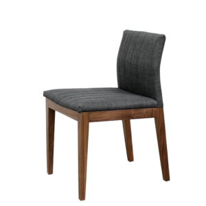 Dining Room, Chairs, birch, contemporary, custom chair, dining, fabric, made in canada, modern, parsons, solid wood, verbois, walnut, simple, dining room ideas, fabric, simple, Vespa Dining Chair