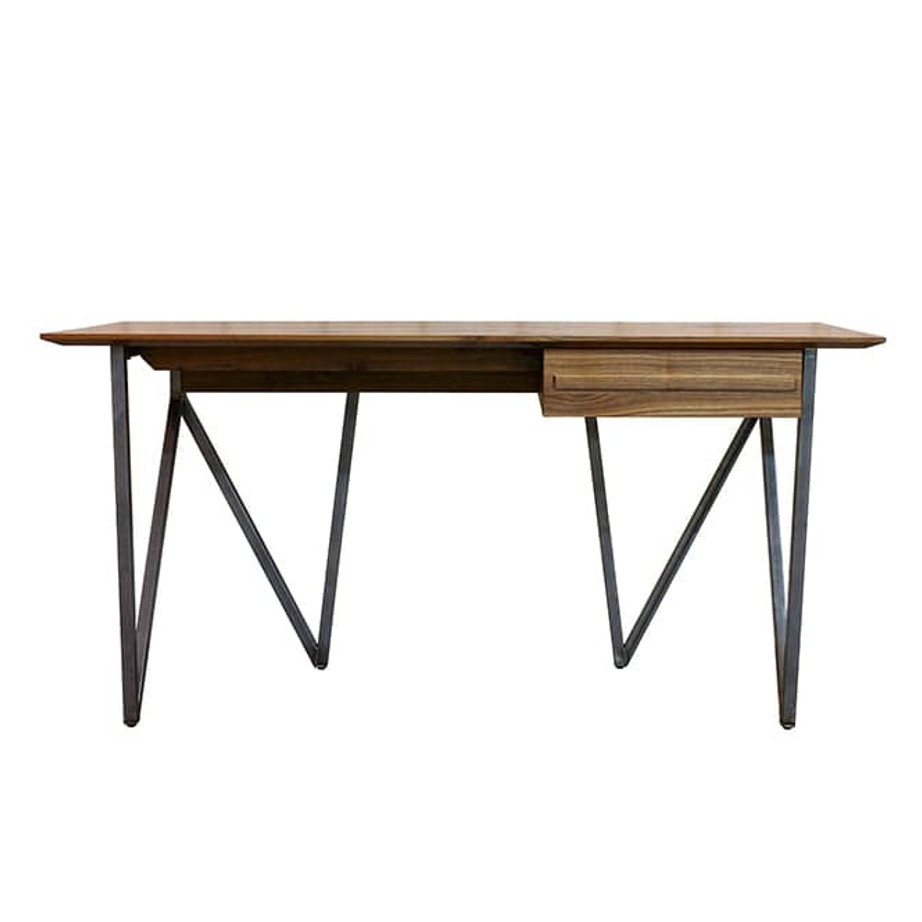 Vibe Desk, birch, contemporary, drawers, made in canada, modern, solid wood, walnut, Bed, master bedroom, solid wood, VerBois, custom made, modern, unique, customizable, solid wood furniture, Chests, storage, mid-century, workstation, writing, Vibe Desk A