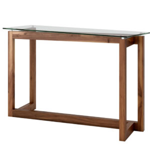 Zeus console table, Living Room, Occasional, Sofa Tables, Accents, Accent Furniture, birch, console, contemporary, custom table, entry way, glass, hall table, made in canada, mid-century, modern, solid wood, walnut, living room furniture ideas, console, Zeus Sofa Table