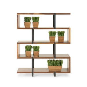 Home Office, Bookcases, Accents, Accent Furniture, birch, contemporary, display, made in canada, mid-century, modern, shelf, shelving, solid wood, walnut, VerBois, living room furniture ideas, custom made, solid wood furniture, Zoro Bookcase